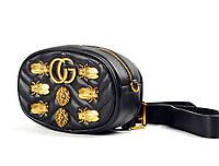 GUCCI Marmont Animal Studs small black