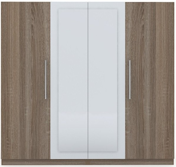 Шафа (шкаф) з ДСП/МДФ в спальню/вітальню/дитячу Martina F 4-х дверна дуб сонома Blonski