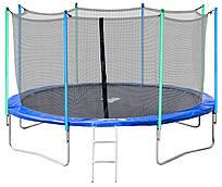 Батут Jumper 366 см с защитной сеткой и лестницей (безопасная внутренняя фиксация)