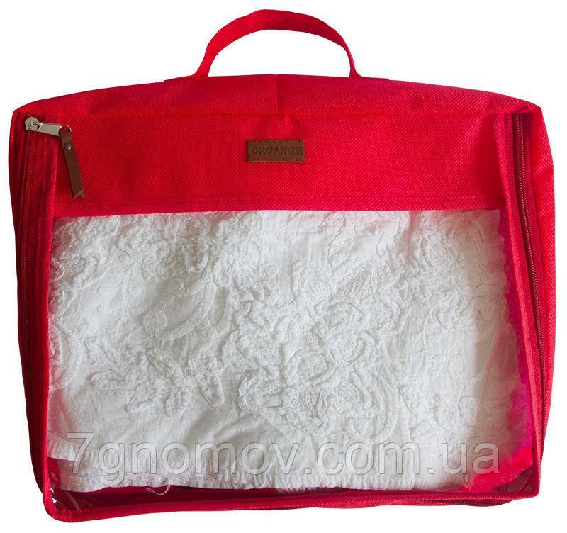 Большая дорожная сумка для вещей ORGANIZE P001 красный