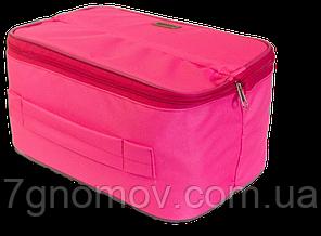 Органайзер дорожный для белья на два отделения ORGANIZE C003 розовый, фото 2