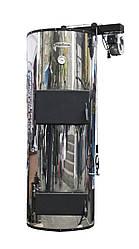 Котлы бытовые твердотопливные длительного горения PlusTerm Твердое, Дрова, уголь бурый, антрацит, щепа, пеллеты. опилки, 89, 25 кВт хром,