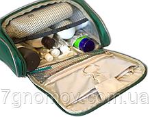 Дорожный органайзер для косметики премиум качества ORGANIZE C025 зеленый, фото 3