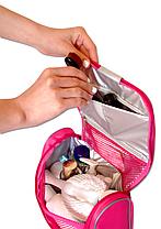 Дорожный органайзер для косметики премиум качества ORGANIZE C025 розовый, фото 3
