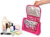 Дорожный органайзер для косметики премиум качества ORGANIZE C025 розовый, фото 2