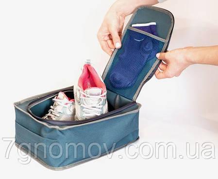 Дорожный органайзер для обуви ORGANIZE  C018 серый, фото 2