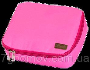Дорожный органайзер для косметики с отстегивающимся кармашком ORGANIZE C011 розовый, фото 2