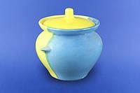 Горшок для запекания 0,45л 6шт  желто-голубой
