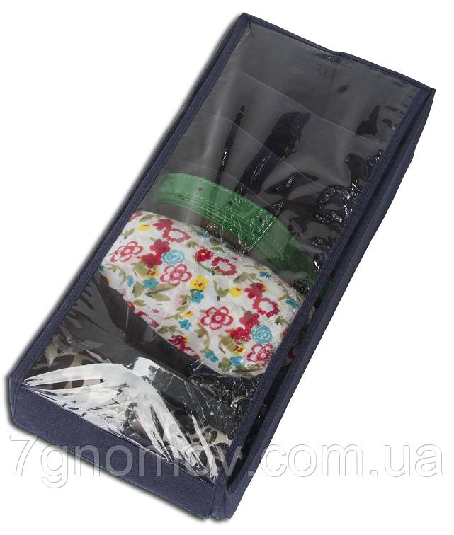 Коробочка с крышкой для носков/колгот/ремней ORGANIZE Jns-Nsk-Kr джинс