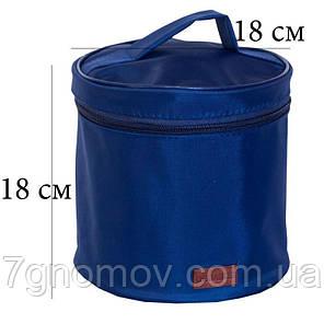 Круглый органайзер для косметики ORGANIZE K009 синий, фото 2