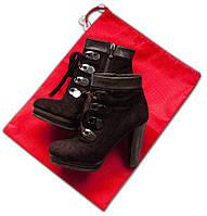 Мешок-пыльник для обуви с затяжкой ORGANIZE HO-01 красный
