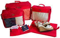 Набор дорожных сумок в чемодан 5 шт ORGANIZE P005 красный