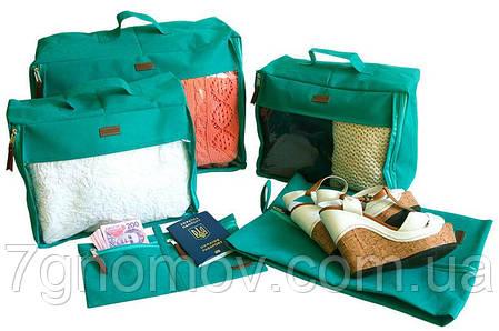 Набор дорожных сумок в чемодан 5 шт ORGANIZE P005 лазурь, фото 2