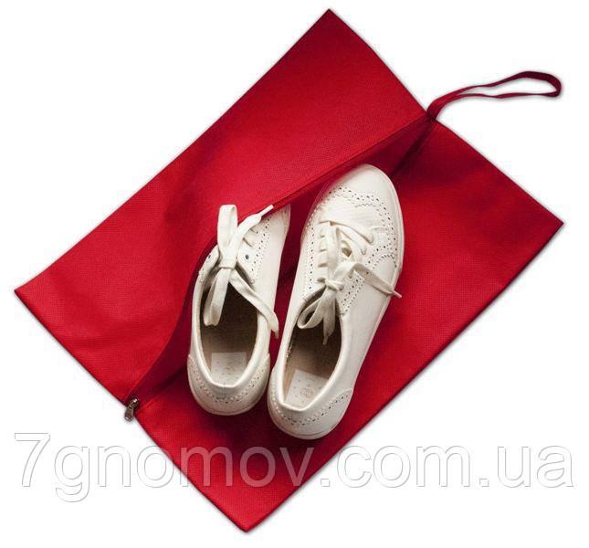 Объемная сумка-пыльник для обуви на молнии ORGANIZE HO-02 красный