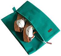 Объемная сумка-пыльник для обуви на молнии ORGANIZE HO-02 лазурь