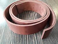 Полоса ременная из натуральной кожи цвет коричневый 1300*40*4 мм