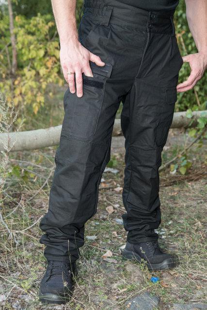 """Зимові штани """"ВАРЯГ"""" / чорні 100% х / б (наметова тканину) + флісова підкладка"""