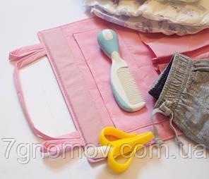 Подвесной органайзер для шкафчика в детский сад ORGANIZE E002 розовый, фото 2