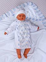 Набор для крещения 3в1 (крыжма, сорочка, шапочка) для мальчика