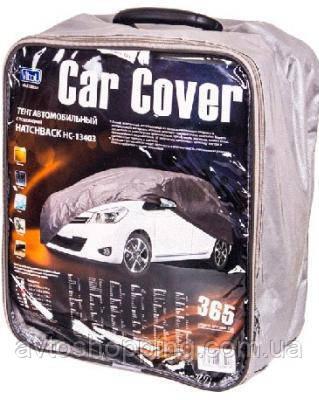 Тент,чехол для автомобиля Хэчбэк Vitol HC13403 XL Серый  406х165х119 см