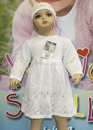 Крестильный комплект для девочки ЭКО, фото 2
