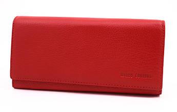 Женский кожаный кошелек Marco Coverna с визитницей (MC1415) на магнитах, красный