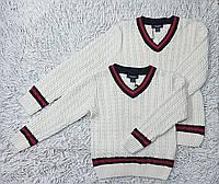 Джемпер свитер на мальчика вязаный трикотажный