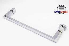 Ручка для дверей душевой кабины на два отверстия ( H-632 ) Металл, фото 3