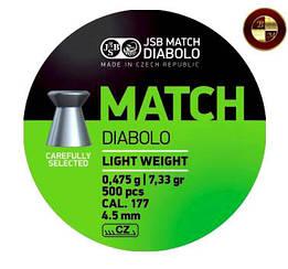 Пули JSB Diabolo MATCH light 4,5mm. 500шт. 0,475г.