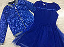 Нарядный комплект платье с бомбером для девочки подростка Красный, фото 3