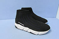 Кроссовки женские Balenciaga 614-1 черные код 0810А