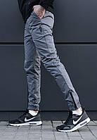 Мужские штаны джоггеры beZet Zipp grey '18
