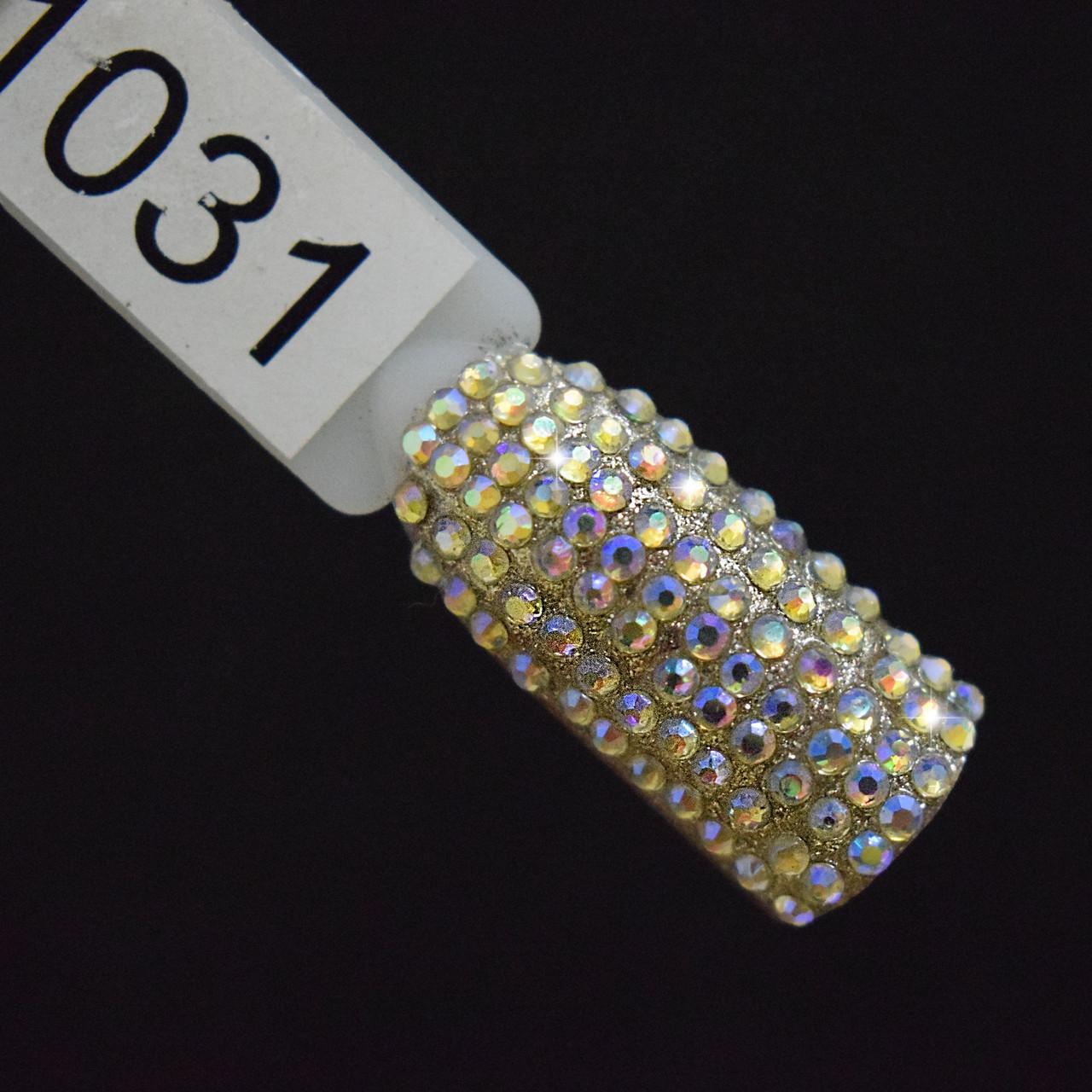 Стразы желтый хамелеон, SS4, 100 шт в упаковке