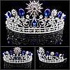 Диадема и серьги Набор Жасмин тиара и серьги для волос корона синяя на голову диадемы тиары