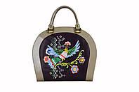 Женская кожаная сумка с вышивкой ROOMY ETNO от ПЕКОТОФ