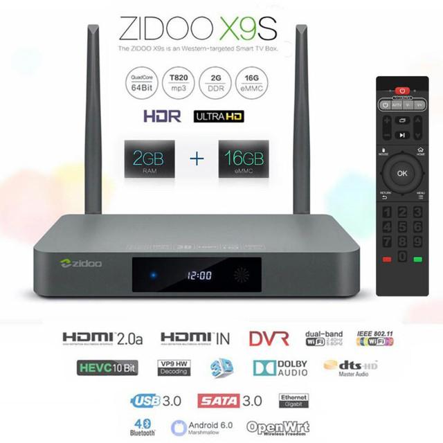 Zidoo X9S 4K UltraHD Android TV приставка медиаплеер