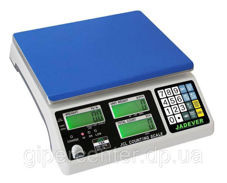 Весы счётные электронные Jadever JСL до 15 кг