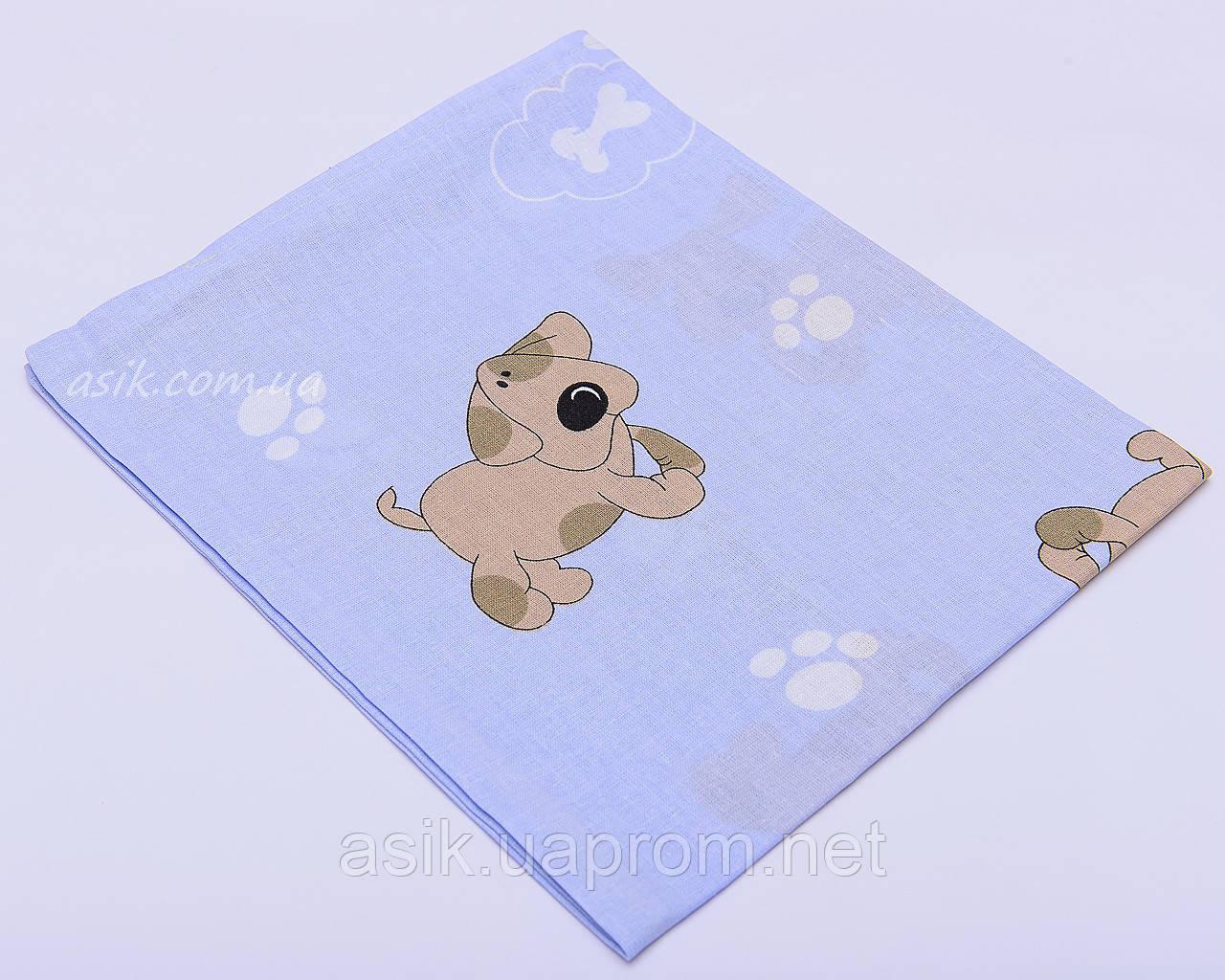 Наволочка детская 40*60 на молнии голубого цвета 6-018