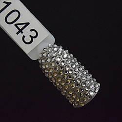 Стразы черное серебро, SS4, 100 шт в упаковке