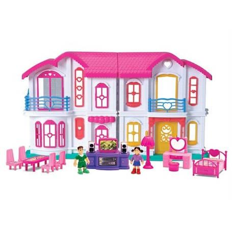 Кукольный домик с мебелью и куклами, фото 2