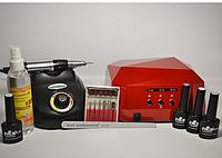 Стартовый набор для маникюра с лампой и фрезером