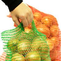 Сетка овощная с ручкой 30*47 (до 10 кг) Красная, Оранжевая, фото 1