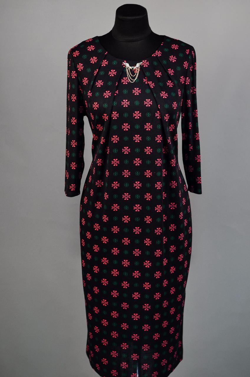 """Нежное и утонченное женское платье из """"Французского трикотажа"""" 50 размер батал"""
