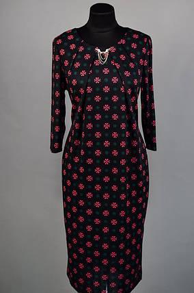 """Нежное и утонченное женское платье из """"Французского трикотажа"""" 50 размер батал, фото 2"""
