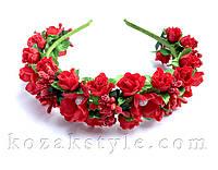 """Обруч для волосся """"Троянди та ягоди"""""""