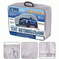 Тент,чехол для автомобиля Джип, Минивэн Vitol JC13401 XL Серый  483х196х145 см
