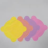 Салфетки для стоматологической чаши плевательницы из спанбонда, разноцветные (25шт в упаковке) (4823098704973)