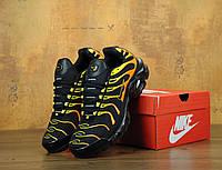 Кроссовки Nike Air Max Tn+ Plus Black/Orange Топ качество! Живое фото (Реплика ААА+)