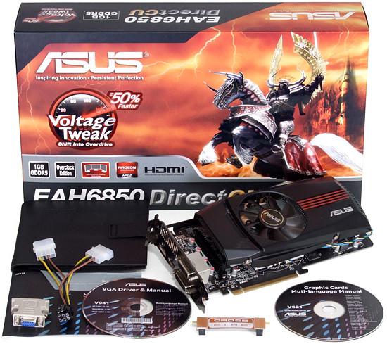 """Видеокарта Asus HD6850 1024MB DDR5 (256bit) """"Over-Stock"""""""