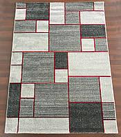 Серый прямоугольный ковер